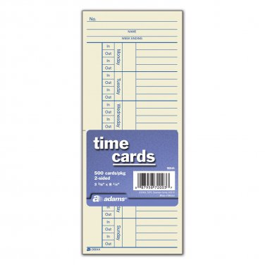 Time Cards, Double Sided, 500 count