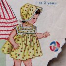 Toddlers Yoked Summer Dress And Oversized Sun Bonnet ePattern