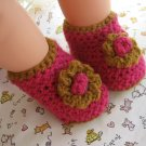 BABY HIGH TOP/SLIPPERS CROCHET ePATTERN WITH FLOWER TRIM