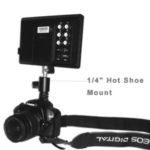 "Lilliput 668GL-70NP/H/Y 7'' HD LCD field Monitor(NO TOUCHSCREEN) & 1/4"" Hot Shoe Mount"