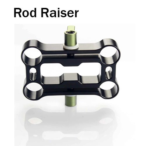 free shipping+Rod Raiser to raise a second set of 15mm rods on DSLR Shoulder rig+cheapest wholesale