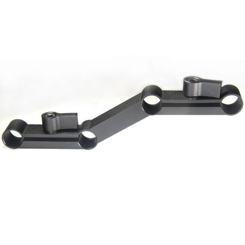 free shipping+Z-Shape Offset Raiser for DSLR Sholder Rig for 15mm rods on dslr shoulder rig