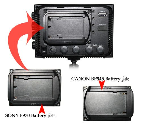 battery plate for ruige hd lcd field monitor+free shipping+cheapest wholesale