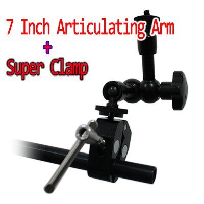 free shipping+Articulating Magic Arm 7 Inch & Coollcd Super Clamp
