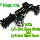 "7""Articulating Magic Arm fr 668GL 667GL 669HB w/hot shoe mount+Hot Shoe Base"