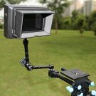 11'' DV Articulating Magic arm+rod clamp fr 5D2 7D 60D &field monitor&LED video camcorder lighting