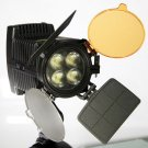 F&V R4 On-camera led video light kit for DV camcorder lighting 5600k with barndoors+free shipping