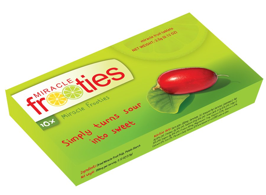 Mberry Miracle Fruit Tablets are tablets that you dissolve on your tongue, tricking your taste buds, making sour foods taste sweet. Knock sour out of the park with these all-natural miracle berry fruit tablets. Eat a lemon like an orange. Drink apple cider vinegar and actually enjoy it. Have a grapefruit for breakfast without sprinkling sugar Reviews: