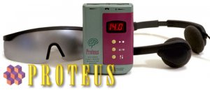 The Proteus Light and Sound Mind Machine with Ruby/Sapphire LightFrames