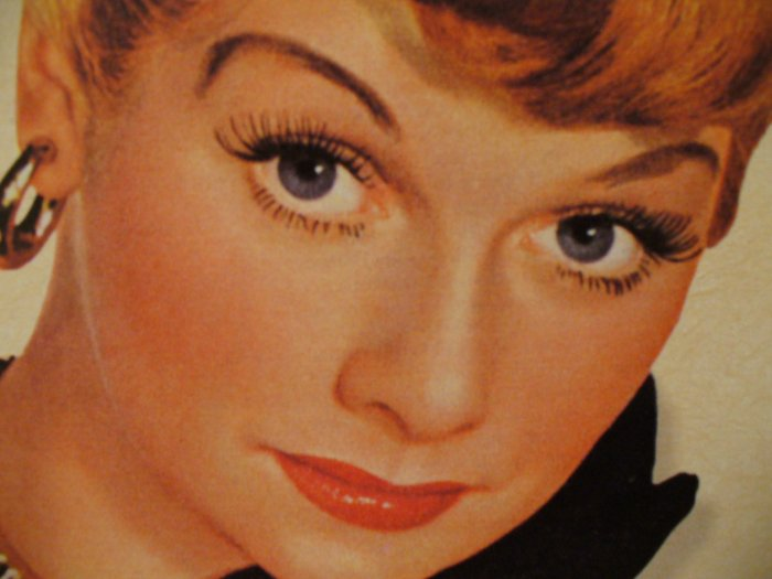 Lucille Ball Woodbury Tin Sign