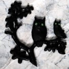 Vintage Metal Wall Hanging- Two Owls