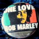 One Love Bob Marley button