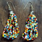 Colorful beaded loops dangly earrings