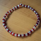 Red and clear beaded bracelet