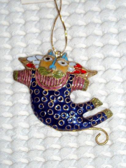 Crazy Cat Cloisonné Decoration