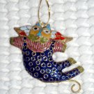Crazy Cat Cloisonné Decoration