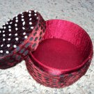 Red velvet leopard box with beads