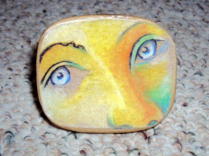 Bright blue eyes Custom Face Box