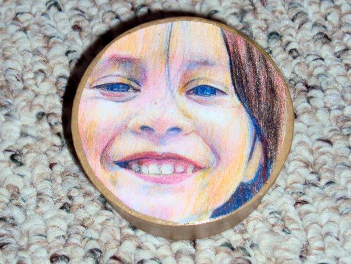 Happy Girl Custom Face Box