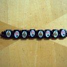 Rosary inspired wooden bracelet