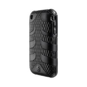 SwitchEasy Rebel Silicone Covered Crystal Case for iPhone 3G, 3G S (Serpent Black)