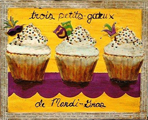 Trois Petit Gateaux De Mardi Gras