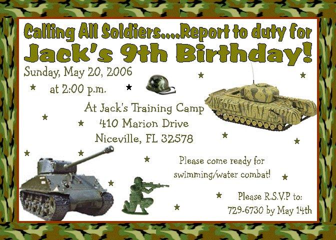 12 ARMY BIRTHDAY Invitations Personalized Party Custom ...
