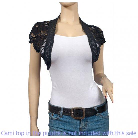Black Lace Plus Size Bolero Shrug 3X
