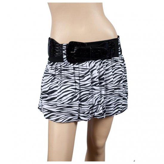 White Animal Print Hip Hugger Plus Size Mini Skirt 2X