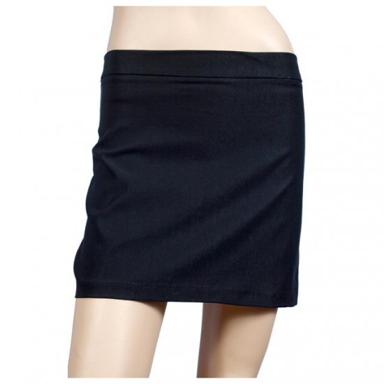 Sexy Black Hip Hugger Plus Size Mini Skirt 1X