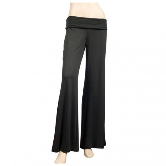 Sexy Black Plus Size Hip Hugger Gaucho Pants 4X