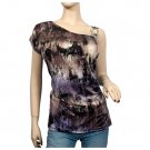 Sublimation Print Single Shoulder Plus size Top 3X