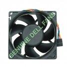Genuine Dell Fan Optiplex GX620 Case Cooling Fan U7581 92mm x 32mm with 5-pin/4-wire plug