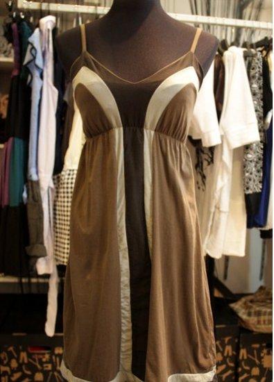 Babydoll Symmetrical Stripe Dress