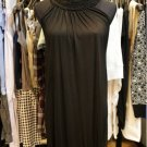 Black Knitted Cotton Collar Evening Dress