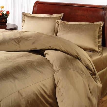 100% pure mulbary dupioni silk bedding set