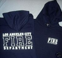 Navy LAFD Hooded Sweatshirt Size L
