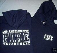 Navy LAFD Hooded Sweatshirt Size M