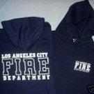 Navy LAFD Hooded Sweatshirt Size S
