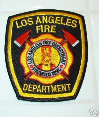 Official Black LAFD Uniform Patch
