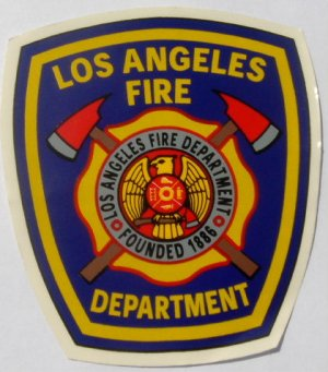 LAFD City Patch  Large Decal / Sticker