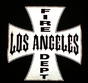 Iron Cross - Los Angeles Fire Department, LAFD T-Shirt  Size 3XL
