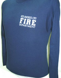 Los Angeles City Fire Department Long Sleeve T-Shirt Size Medium