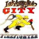 LAFD Running FireFighter  white T-Shirt Size Medium