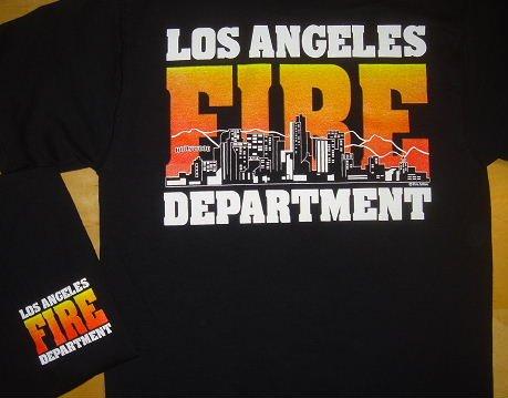 Black LAFD Skyline T-Shirt Size Medium