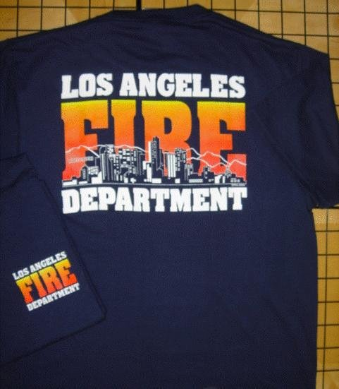 Navy LAFD Skyline T-Shirt Size Large