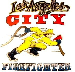 LAFD Running FireFighter  white T-Shirt Size Large