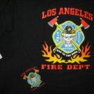 LAFD T-Shirt Hazmat Bad 2 the Bone Tee Size Large