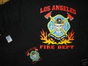 LAFD T-Shirt Hazmat Bad 2 the Bone Tee Size XLarge
