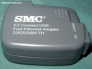 SMC USB EZ Connect Ethernet Network Adaptor 2202USB/ETH